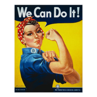 Rosieリベッター私達は第二次世界大戦それをしてもいいです ポスター