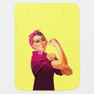 Rosieリベッター-蟹座のピンク ベビー ブランケット