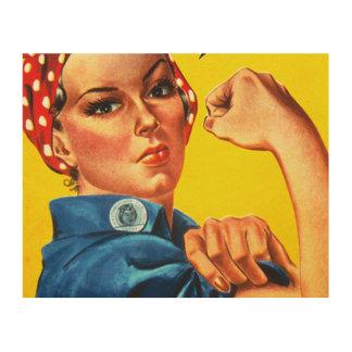 Rosie川の世界大戦2の女性の木製の芸術 ウッドウォールアート