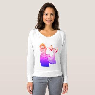 Rosie虹の力の揚げべら Tシャツ