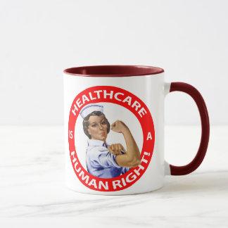 """""""Rosie""""ナースは""""ヘルスケアが人権であることを言います! """" マグカップ"""