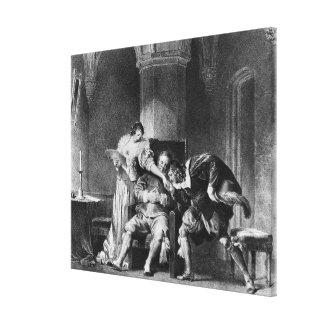 Rosine、Bartholoの計算Almaviva キャンバスプリント