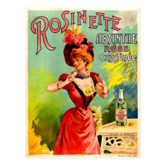 Rosinetteのアブサンのばら色のOxygénéeのヴィンテージのファインアート ポストカード