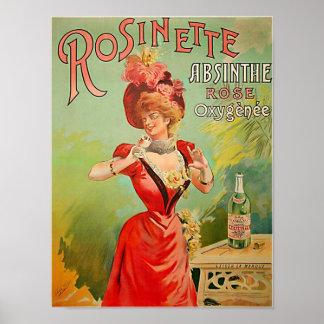 Rosinetteのアブサン1823年 ポスター