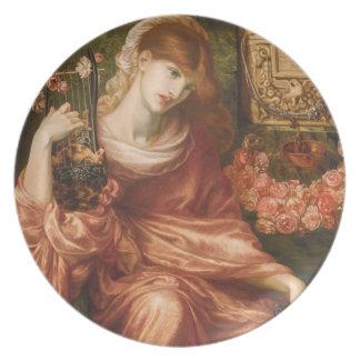 Rossettiのローマのハーププレーヤーのプレート 皿