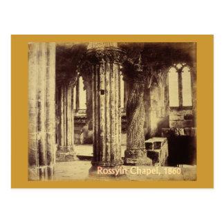Rosslynのチャペルの1860年の郵便はがき ポストカード