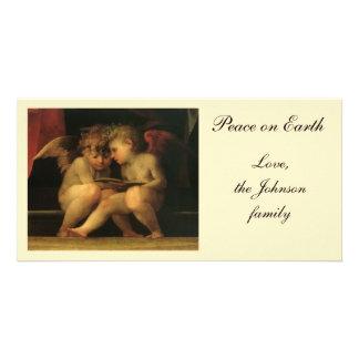 Rosso Fiorentino著読んでいる2匹の天使 カード