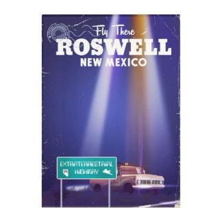 Roswellの地球大気圏外のハイウェー旅行ポスター アクリルウォールアート