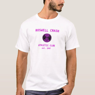 Roswellの衝突の紫色 Tシャツ