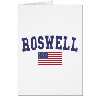Roswell GA米国の旗 カード