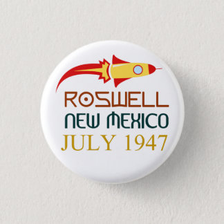 Roswell,New Mexico,july 1947 3.2cm 丸型バッジ