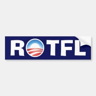 ROTFL 転がること 床 笑うこと オバマ バンパーステッカー