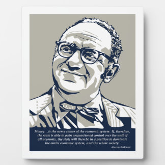 Rothbardのお金の引用文 フォトプラーク
