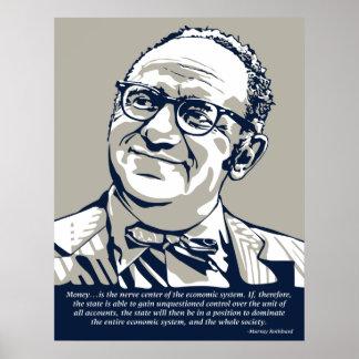 Rothbardのお金の引用文 ポスター