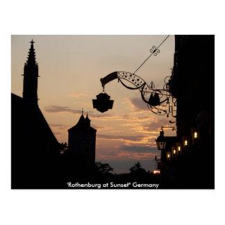 Rothenburgの郵便はがき ポストカード
