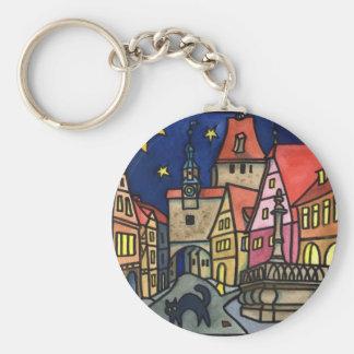 "Rothenburgの""猫夜"" キーホルダー"