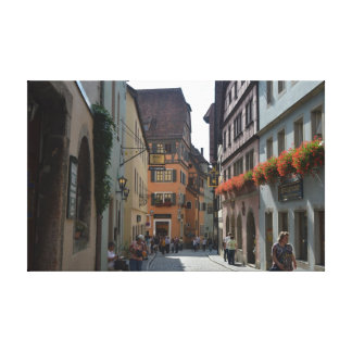Rothenburgのobのder Tauber、ドイツの静かな町 キャンバスプリント