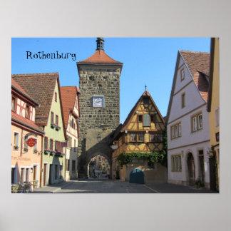 Rothenburg、ドイツ ポスター