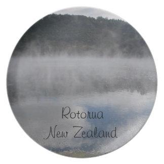 Rotorua、ニュージーランドのプレート プレート