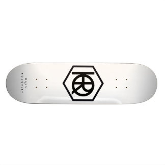 Roughleyの元の白いスケートボードのHaus 21.6cm スケートボードデッキ