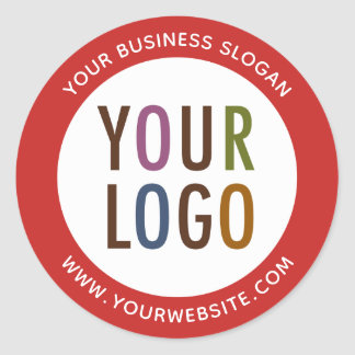Round Promotional Business Stickers Company Logo ラウンドシール