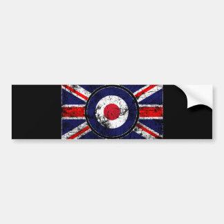 RoundelターゲットModsイギリスターゲット英国国旗 バンパーステッカー