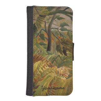 Rousseauのトラのカスタムのウォレットケース iPhoneSE/5/5sウォレットケース