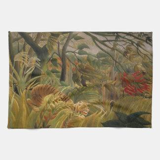 Rousseauのトラ手タオル キッチンタオル