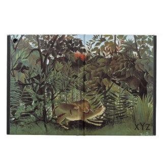 Rousseauの空腹なライオンのカスタムのケース iPad Airケース