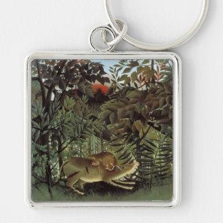 Rousseauの空腹なライオンのキーホルダー キーホルダー