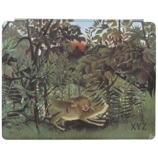 Rousseauの空腹なライオンカスタムな装置カバー iPadスマートカバー