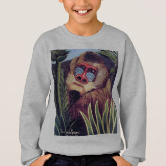 """Rousseauの""""ジャングルのMandrill"""" (1909年頃) スウェットシャツ"""
