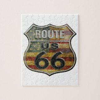 route66flag ジグソーパズル