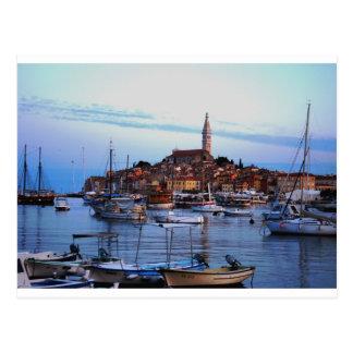Rovinj港、クロアチア ポストカード