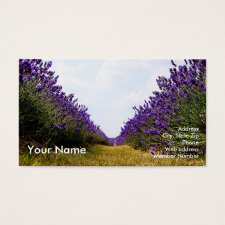 Row of Lavender Business Card2 名刺