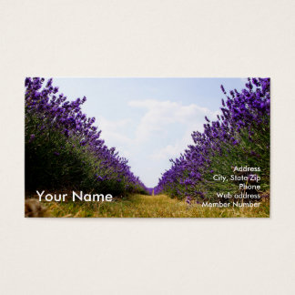 Row of Lavender Business Card_A 名刺