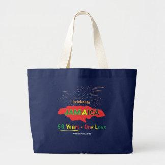 Roxanne/Swellheadによるジャマイカ第50の記念日 ラージトートバッグ