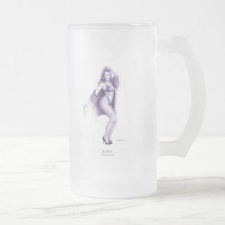 """""""ROXY""""のピンナップの女の子のコーヒー・マグ フロストグラスビールジョッキ"""