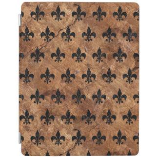 ROYAL1黒い大理石及びブラウンの石 iPadスマートカバー
