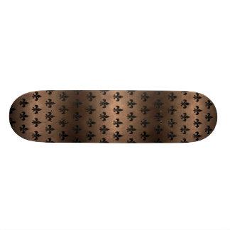 ROYAL1黒い大理石及び青銅の金属 スケートボード