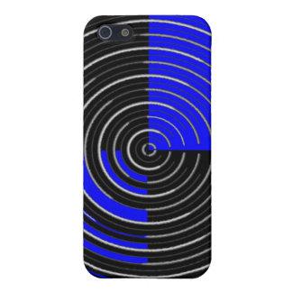 RoyalBlue nの銀製の縞 iPhone 5 Cover