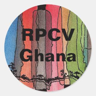RPCVガーナの円形のステッカー ラウンドシール