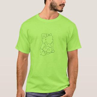 RPCVガーナの前部地図のTシャツ Tシャツ