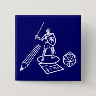 RPG/Boardgame -白いデザイン-ボタン 5.1cm 正方形バッジ