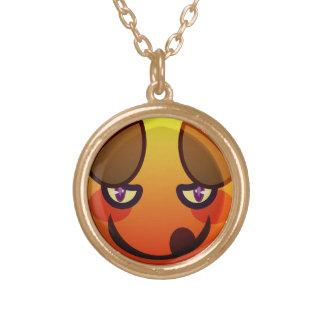 RRの快活なキャラクターのネックレス ゴールドプレートネックレス