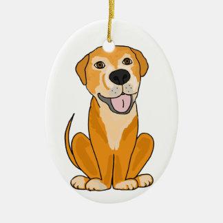 RR-かわいくおもしろいな救助犬の子犬の漫画 セラミックオーナメント