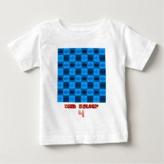 RS4チェッカーボードのデザイン ベビーTシャツ