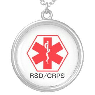 RSDの医学の注意深いネックレスCRPS シルバープレートネックレス