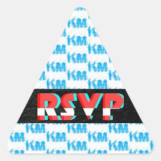 RSVPのステッカー 三角形シール