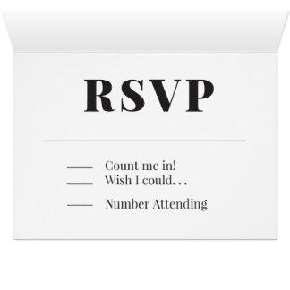 RSVPのハートのデザインカード カード